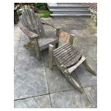 Pressure Treated Wood Chair and Ottoman $55