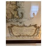 Carte DeLa Nouvelle Angleterre Map with COA