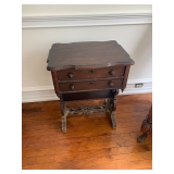 Antique 2-Drawer Side Table $50 as is