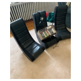 bundle - 3 Game Chairs, over 25 PS2 & PS3 Games and Gigawear Headphones $150