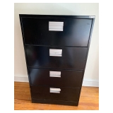 BLACK LATERAL FILE CABINET $65.00