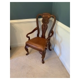 Arm Dining Room Chair Leather seat Table Set