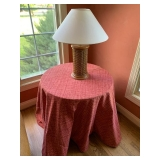 Faux Table $15 and Lamp $45