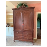 Large 2-Door Wood Armoire $255