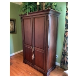 Chicory Finish Computer Armoire $375