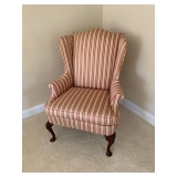 Upholstered Wing Back Upholstered Hickory Chair $175