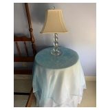Faux Table $15 and Lamp $40