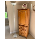 Yellow Pine Chest $150 Floor Lamp $50