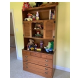 Maple Bookcase & Drawers $150