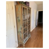 Painted 2-Door Display Cabinet $245