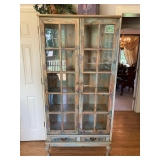 Painted Distressed 2-Door Display Cabinet $245
