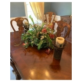 Pair of Metal Candle Holders $40 and Large Faux Centerpiece $40