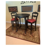 Black Painted High Top Bistro Set $285