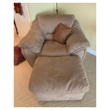 Oversized Chair and Ottoman $225