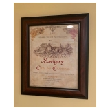 Framed Wine Art $50