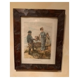 Antique Framed Litho $50