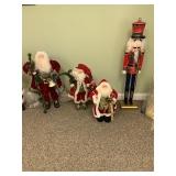 Pair of Santas $45, Standing Santa $35