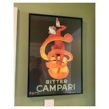 Campari Framed Poster $60