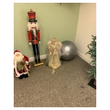 Excercise Ball $10, Angel $24, Tall Nutcracker $35