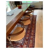 10 Walnut, Stainless & Leather Seat Chairs Poul Kjaerholm design PK-11 $3500 Each
