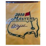 2010 Masters signed Phil Michelson Flag