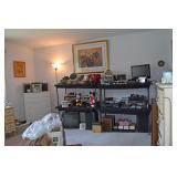 MCM 8 Track, TV, Pansonic Stereo Speakers, Radios, Viewers