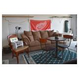 Chair, Microfiber Sofa, Table & Chairs, Rug