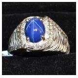 Star Sapphire with 48 Diamonds Ring
