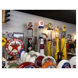 Texaco, Conoco, visible gasoline pumps, Esso, Enarco, Champlin, oil cans, porcelain enamel signs -- SO much more in Oklaoma City!