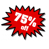 75% off everything on Monday, 16 December!