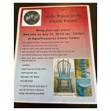 Chalk paint class SAT. 10 am