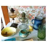 Pottery, Lamps, Crock, Glass