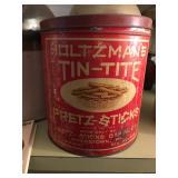 Vintage pretzel tin