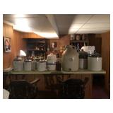 Stoneware liquor jugs