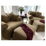 Broyhill Overstuffed Chair and Ottoman