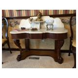 Classical Pier Table - Scalloped Marble Top
