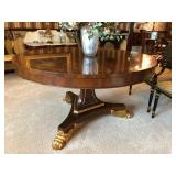 Baker Large Round Expandable Table with Winged Paw Foot