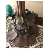 Large Tiffany-Style Copper Lilly Pad Base
