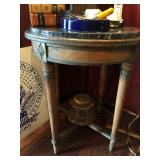 Aesthetic Movement Marble-Top Tapered Occasional Tble