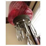 Victorian Library Chandelier Pendant Oil Lamp