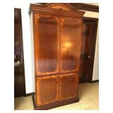 Tall Inlaid Entertainment Armoire