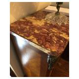 Antique Marble-Top 4-Drawer Chest