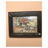 Hunt Print - Riding Embellished Frame