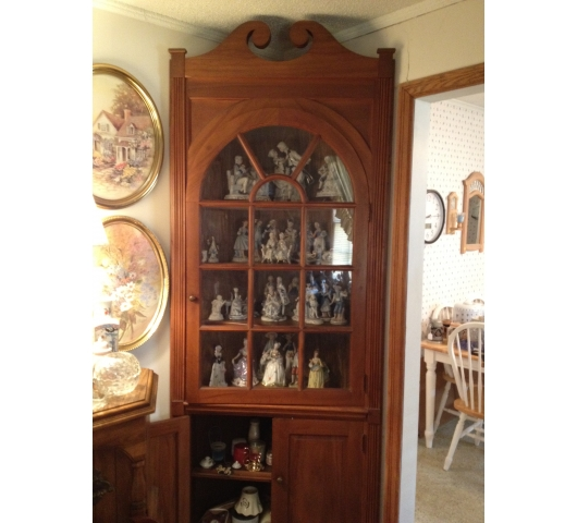 Tall Solid Wood Corner Cabinet