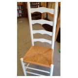 Rush Seat White Ladder Back