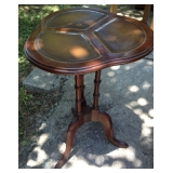 Clover Shaped 20 inch tall Leather Topped Table
