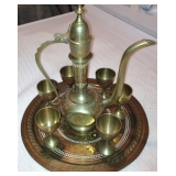 Middle Eastern Brass Coffee Service