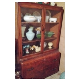 Vintage Solid Wood China Cabinet