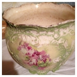 Large Hand Painted Vintage Pot