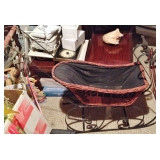 Vintage Wicker Doll Sleigh - Sled